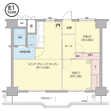 横浜若葉台第1 3-4号棟 1101