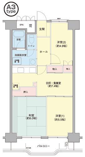 横浜若葉台第3 3-8号棟 1103